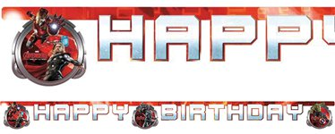 "Banderole ""Happy Birthday"" Avengers : L'Ère d'Ultron"