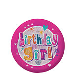 "Badge Brillant ""Birthday Girl"" - 5,5cm"