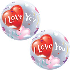 "Ballon Bulle ""I Love You"" - 56 cm"