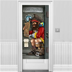 poster de porte de salle de bain pirate 1 5 m. Black Bedroom Furniture Sets. Home Design Ideas