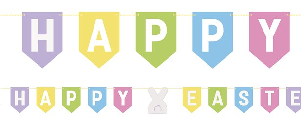 Guirlande de lettres Happy Easter - 2,13 m