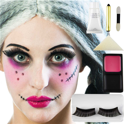 Kit maquillage poup e de chiffon gothique maquillage de visage party city - Maquillage poupe demoniaque ...