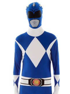 Combinaison Seconde Peau Power Rangers Bleu