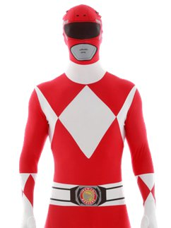Combinaison Seconde Peau Power Rangers Rouge