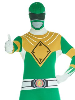 Combinaison Seconde Peau Power Rangers Vert