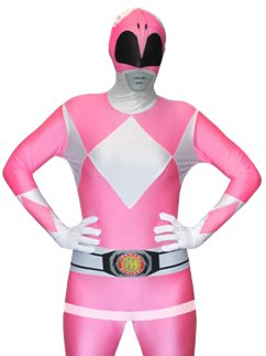 Combinaison Seconde Peau Power Rangers Rose
