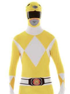Combinaison Seconde Peau Power Rangers Jaune