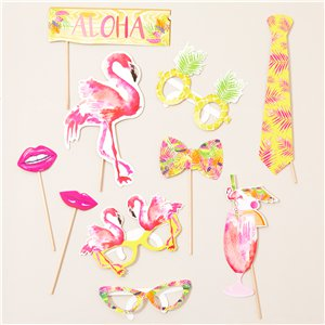 accessoires photobooth flamant rose party city. Black Bedroom Furniture Sets. Home Design Ideas