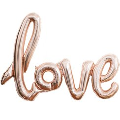 "Ballon Alu ""Love"" Rose Gold - 1 m"