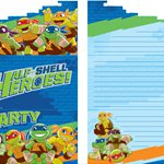 Invitations Half Shell Heroes - Cartes d'Invitation