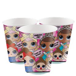 L.O.L Surprise - Gobelets en carton - 256 ml