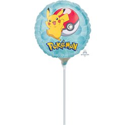 Mini Ballon Mylar Pokémon - 23 cm