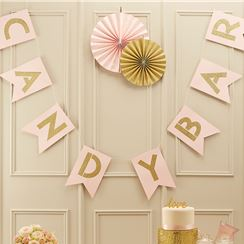 "Guirlande de Fanions ""Candy Bar"" Perfection Pastel - 2 m"