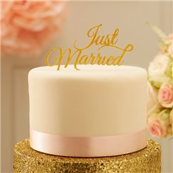 "Décor de Gâteau ""Just Married"" Perfection Pastel"