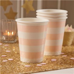 Gobelets en Papier Perfection Pastel - 255ml
