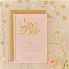 Cartes Save The Date Perfection Pastel