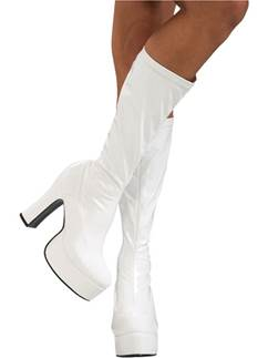 Bottes Blanches Sexy - Taille Adulte 37