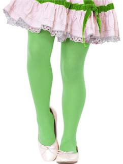 Collants Verts Enfant - 7/10 Ans