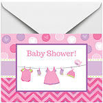 Invitations et Enveloppes Baby Shower Fille