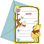 Invitations et Enveloppes Winnie l'Ourson