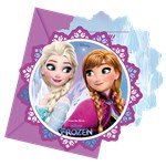 Cartes d'Invitation Disney La Reine des Neiges