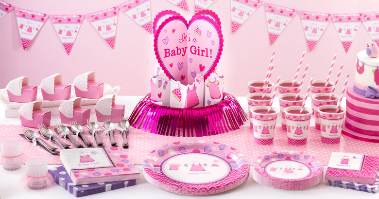 Articles De F 234 Te Baby Shower Fille Partycity Eu Com