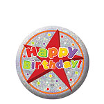 "Badge Brillant ""Happy Birthday"" - 5,5cm"