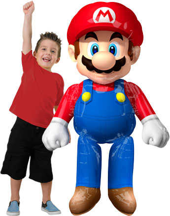 Ballon Géant Supershape Super Mario - 150 cm, Alu