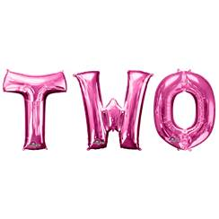 "Kit de Ballons Magenta ""TWO"" - 86,3 cm, Alu"