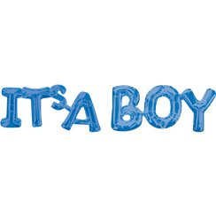 "Kit de Ballons Bleus ""It's A Boy"""