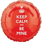 "Ballon ""Keep Calm and Be Mine"" - Alu, 46 cm"