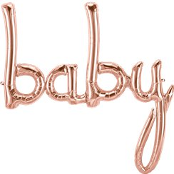 "Ballon Mylar ""Baby"" Rose Gold - 86,3 cm"
