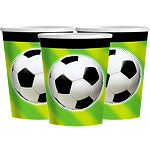 Gobelets en Carton Football - 266 ml