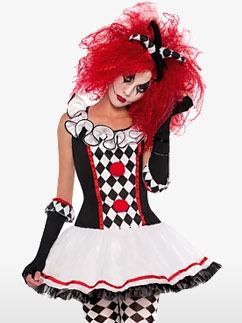 Jolie Clown Arlequine - Déguisement Ado Fancy Dress
