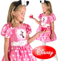 Minnie Mouse en Rose Version Prestige - Déguisement Enfant