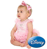 Minnie Mouse Rose Brillant - Déguisement Bébé