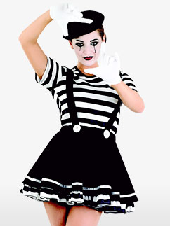Femme Mime - Déguisement Adulte  Fancy Dress