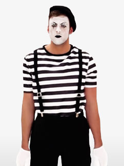 Mime - Déguisement Adulte Fancy Dress
