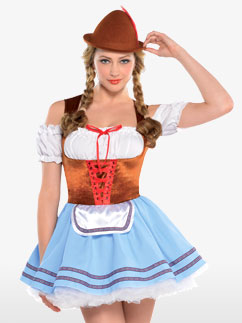 Dirndl d'Oktoberfest - Déguisement Adulte  Fancy Dress