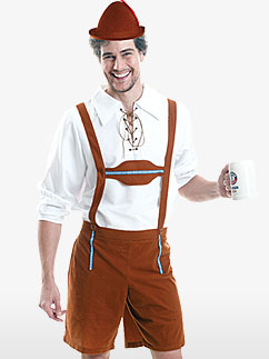 Lederhosen d'Oktoberfest - Déguisement Adulte  Fancy Dress