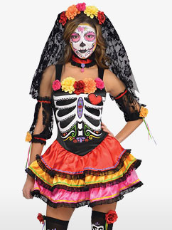 Señorita Jour des Morts - Déguisement Adulte Fancy Dress