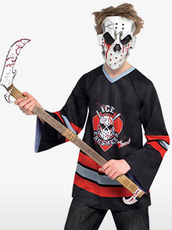 Joueur de Hockey Sans Tête - Déguisement Adolescent Fancy Dress