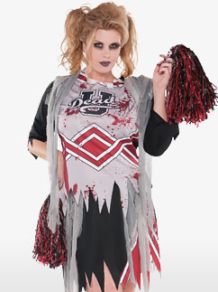 Zombie Pom-Pom Girl - Déguisement Adulte Fancy Dress