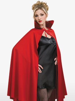Cape Mi-Longue Rouge - Déguisement Adulte Fancy Dress