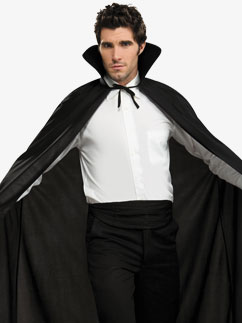 Longue Cape Noire - Déguisement Adulte Fancy Dress