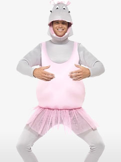 Hippopotame Danseuse Étoile - Déguisement Adulte Fancy Dress
