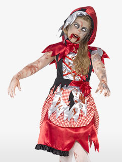 Petit Chaperon Rouge Zombie - Déguisement Enfant Fancy Dress