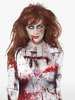 Tee-Shirt Zombie Femme - Déguisement Adulte Fancy Dress