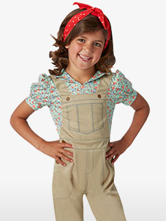 Land Girl de la Seconde Guerre Mondiale - Déguisement Enfant  Fancy Dress