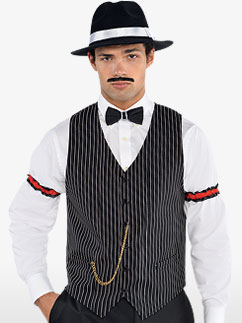 Gilet de Gangster - Déguisement Adulte  Fancy Dress